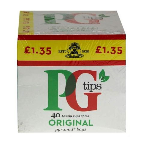 PG Tips Pyramid Tea Bags 116g (Pack of 40)